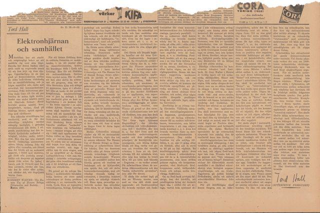Denna artikel publicerades ursprungligen den 19 september 1951.