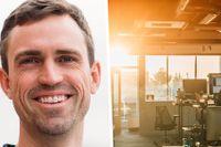"""Ryan Carson går upp 04.30 varje dag. """"I dag jobbar jag runt 65 timmar i veckan"""", säger han."""
