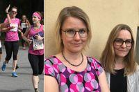 Forskarna Karin S Lindelöf och Annie Woube sågar vissa tjejlopps inramning.