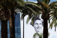 Ingrid Bergman pryder affischerna på Cannesfestivalen.