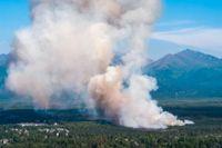 En skogsbrand i Alaska i juli. Arkivbild.
