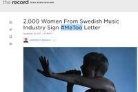 Svenska #metoo-kampanjen – en världsnyhet