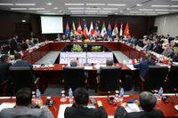 Handelsministrar och delegater från TPP:s medlemsländerna under förhandlingar i november i fjol. Arkivbild.