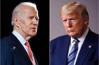 Joe Biden ser ut att ha ett kraftigt övertag på president Trump, men analytiker varnar för att dra förhastade slutsatser utifrån opinionsmätningar. Bilden är ett montage.