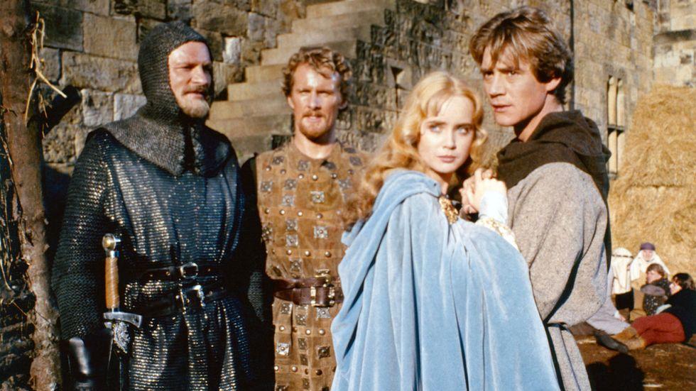 Anthony Andrews som Ivanhoe och Lysette Anthony som Rowena i filmatiseringen från 1982.