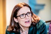 EU:s handelskommissionär Cecilia Malmström har träffat USA:s handelsrepresentant Robert Lighthizer och Japans handelsminister Hiroshige Seko i Washington. Arkivbild.