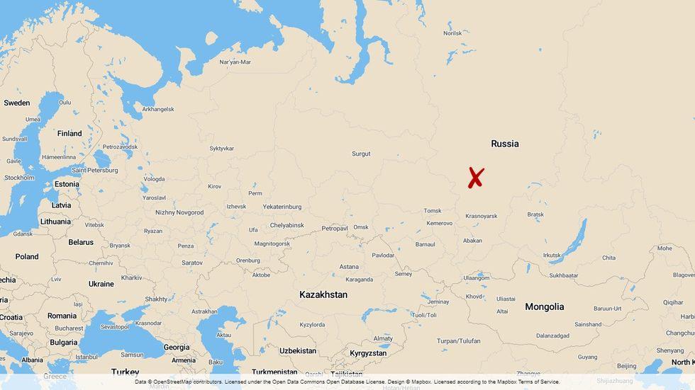 Gruvan ligger i regionen Krasnojarsk.