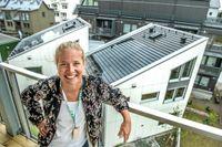 Anna Svensson designade den nya shingel-pannan som ger el.