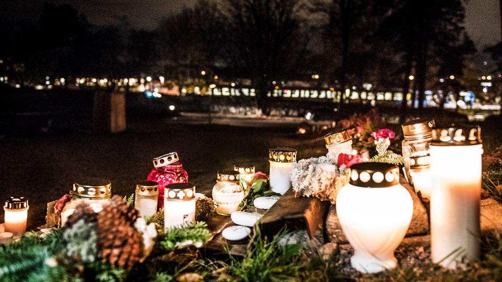 Allhelgonahelgen är den religiösa ritual som flest svenskar deltar i. På bilden syns ljus vid Skogskyrkogården i Stockholm under allhelgonafirandet 2016. Arkivbild.