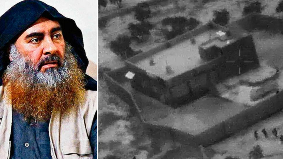 IS-ledaren al-Baghdadi/Det hus där han hittades.