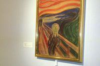 """Det starkt gula i Edvards Munchs """"Skriet"""" bleks av luftfuktigheten, enligt en ny expertundersökning. Arkivbild."""