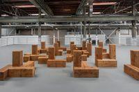 Carl Andre, installationsvy från MOCA.