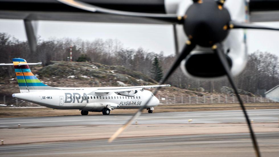 Bland annat flygbolaget BRA har trafikerat Bromma–Visby. Arkivbild.