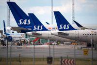 Två personer har gripits efter en protestaktion på ett SAS-flygplan under måndagen. Arkivbild.