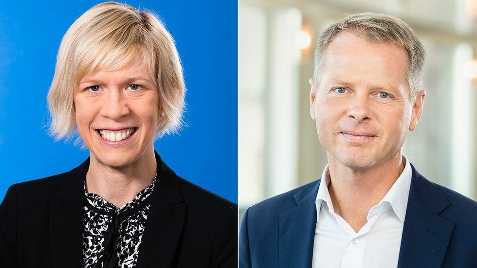 Artikelförfattarna Maria Nilsson och Christer Nylander.