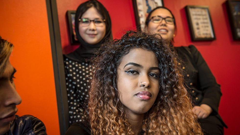 Feven Tekie, 17, lämnade Eritrea för Sverige för ett år sedan.