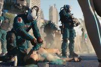 "Ur det nya spelet ""Cyberpunk 2077""."