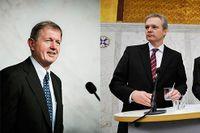 Till vänster: Marcus Wallenberg. Till höger: Före detta försvarminister Sten Tolgfors