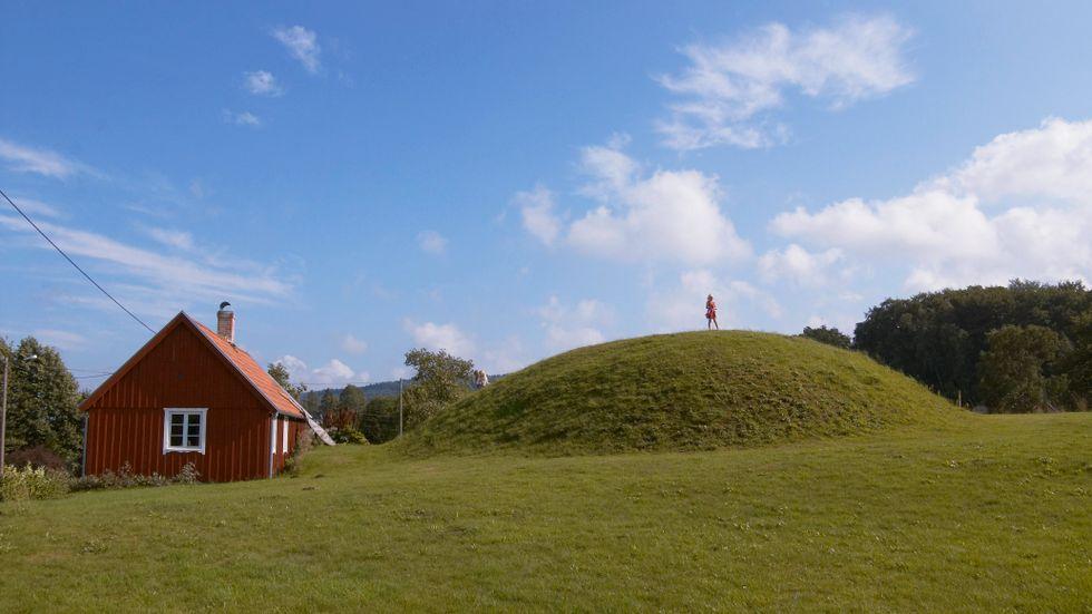 Lugnarohögen, ett stenkast från Hallandsåsen.