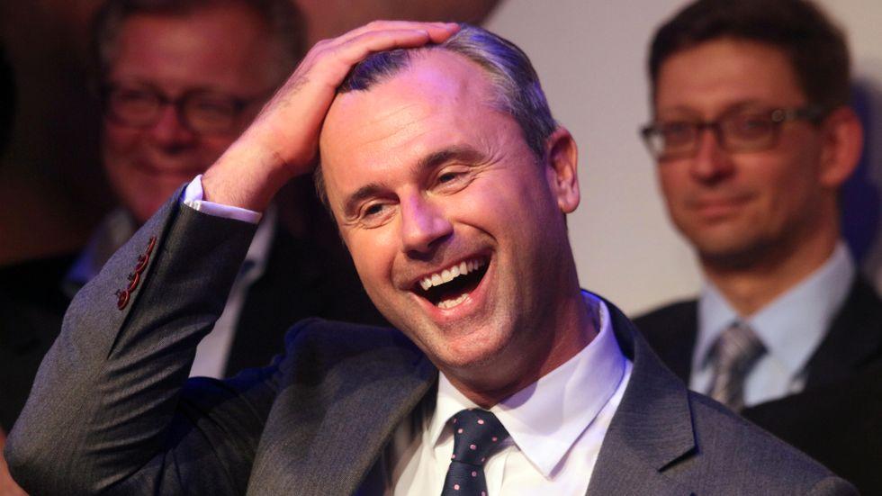 Frihetspartiet FPÖ:s presidentkandidat Norbert Hofer.