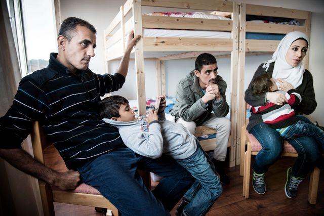 Khaled med sonen Rhodan tillsammans med Khaleds bror Tarek, hans fru Abeer och deras son Ziad.