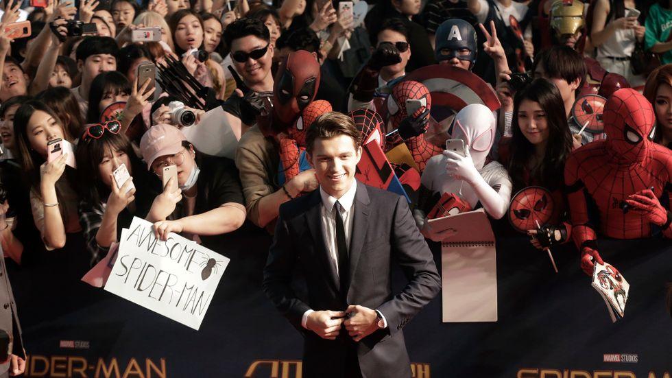 """I och med rollen som Spider-Man är nu Tom Holland en del i det omåttligt populära Marveluniversumet. """"Det är stort"""", säger han. Arkivbild."""