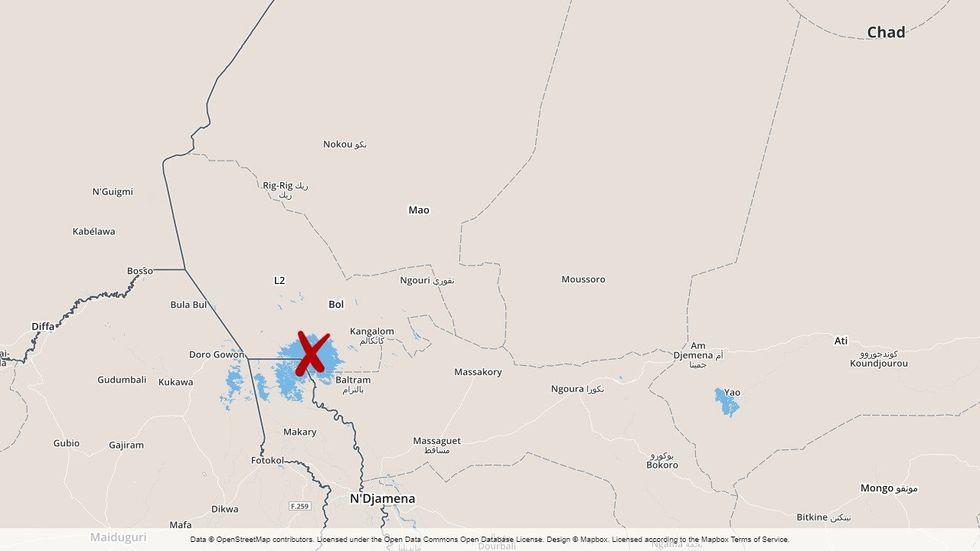 Attacken inträffade vid Tchadsjön.