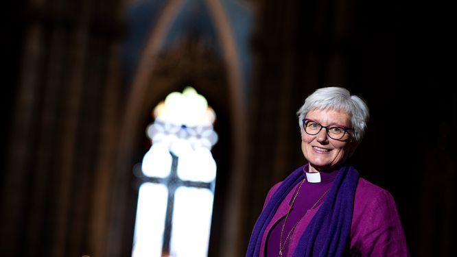 Ärkebiskop Antje Jackelén har förvånats över att vissa ämnen lyfts som valfrågor i kyrkovalet. Arkivbild.