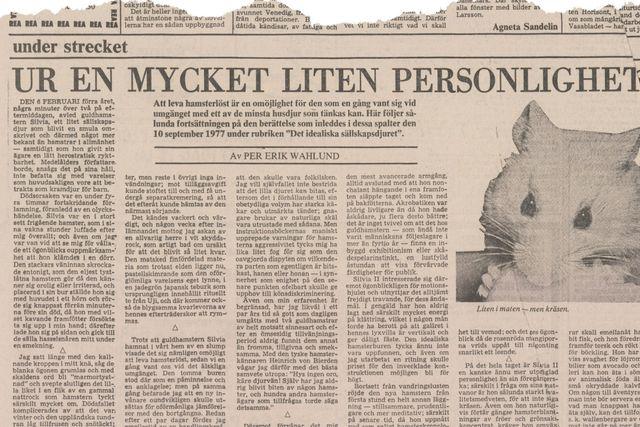 Denna artikel publicerades i SvD den 4 februari 1979.