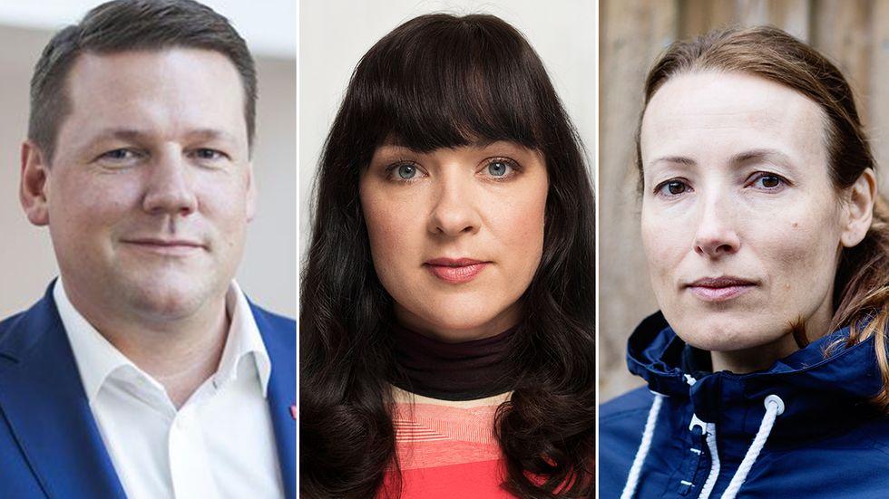 Tobias Baudin, Kommunal, Veronica Magnusson, Vision, och Heidi Stensmyren, Sveriges läkarförbund.