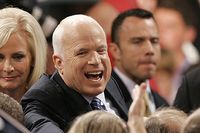 Den republikanske presidentkandidaten John McCain med sin fru Cindy.