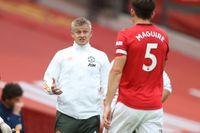 Manchester Uniteds tränare Ole Gunnar Solskjær har inga planer på att ta lagkaptensbindeln från Harry Maguire. Arkivbild.