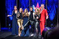 En bild från SVT:s presentation av programledarna för Melodifestivalen nästa år.