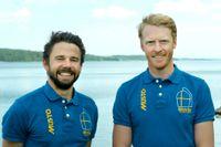Seglarduon Anton Dahlberg och Fredrik Bergström leder VM i 470 efter första dagen i japanska Enoshima. Arkivbild.