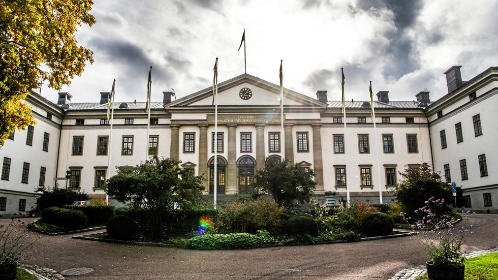 Landstingshuset i Stockholm där regionfullmäktige håller sina sammanträden.