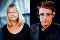 Marita Ulvskog (S) och Edward Snowden.