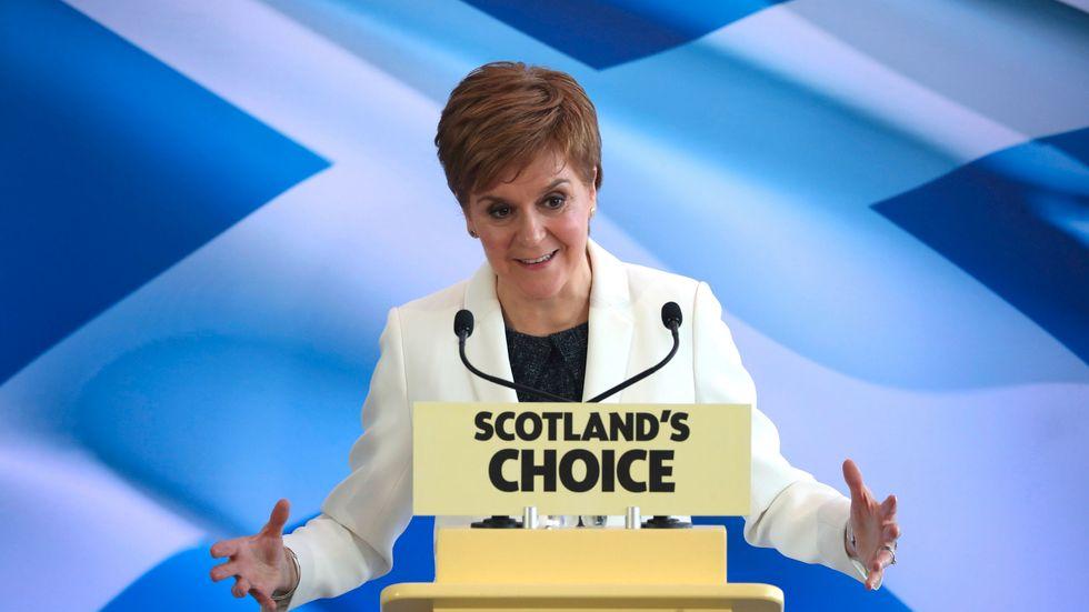 Nicola Sturgeon kräver att skottarna får rösta om självständighet. Arkivbild.