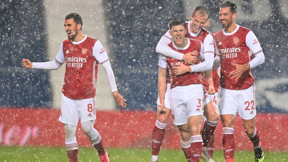 Arsenal vann stort mot West Bromwich.