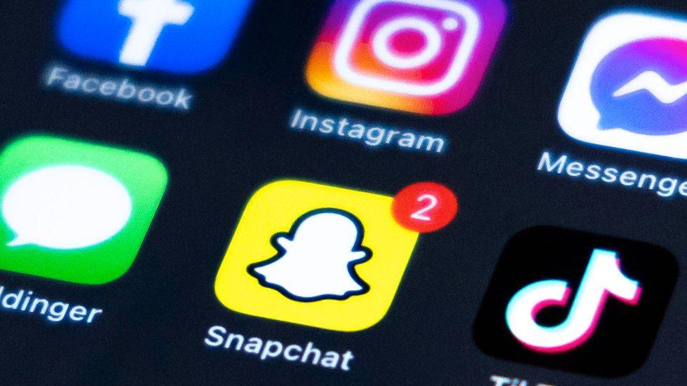 Populära sociala mediet Snapchat låg nere några timmar under onsdagen. Arkivbild.