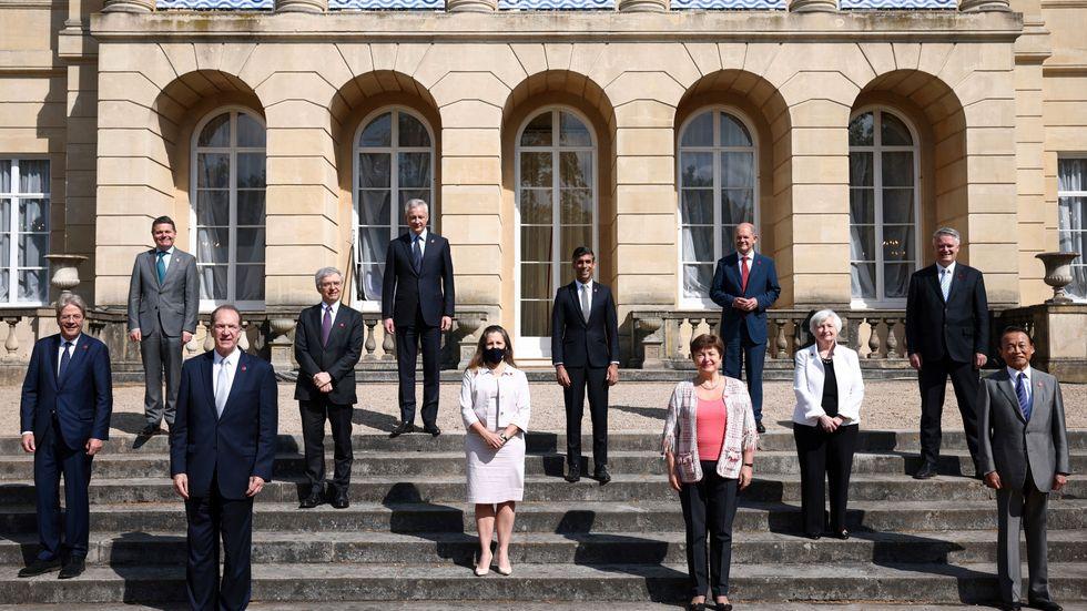 Bild från G7-mötet i London.