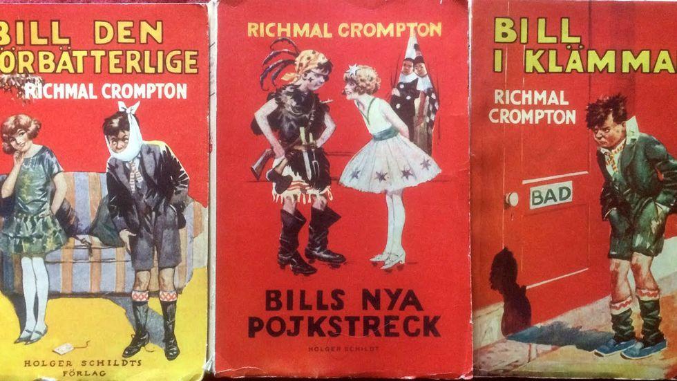 Mer än hälften av de sammanlagt 39 Bill-böckerna finns översatta till svenska.