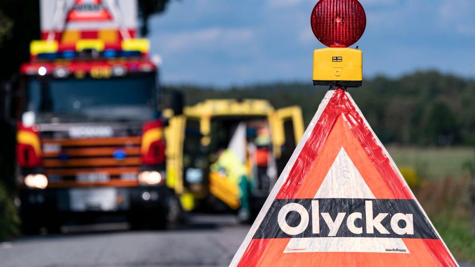 En trafikolycka inträffade under lördagen utanför Skinnskatteberg. Arkivbild.