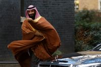 Saudiarabiens kronprins Mohammed bin Salman under ett besök i London häromdagen.