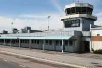 Terminalbyggnaden vid Växjö Småland airport.