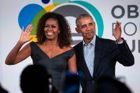 """Nya """"The Michelle Obama podcast"""" är en samtalspodd med den tidigare första damen som programledare. Arkivbild."""