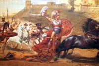 """""""Akilles triumf"""" av Franz von Matsch, en freskomålning från 1892 i kejsarinnan Elisabeth av Österrikes palats Achilleion på Korfu."""