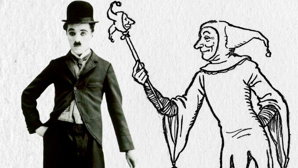 Charlie Chaplin och en medeltida narr – vad är det för roligt med dem?
