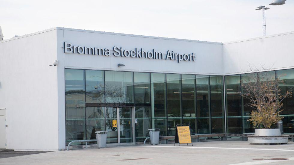 Regeringen vill avveckla Bromma om några år och samla flyget på Arlanda. En majoritet i riksdagen vill bromsa. Arkivbild.