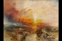 """""""Slavskepp"""" av J M W Turner, 1840."""