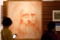 Leonardo Da Vinci kan ha drabbats av en nervsjukdom som gjorde att han inte kunde måla med höger hand, enligt en ny studie. Arkivbild.